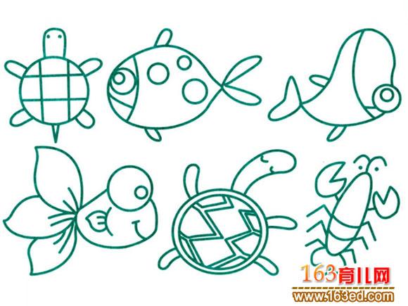 简笔画/水生动物2(简笔画)