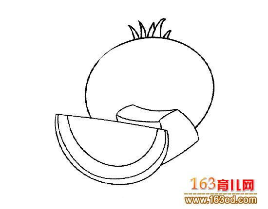 简笔画 西红柿/蔬菜简笔画:西红柿1