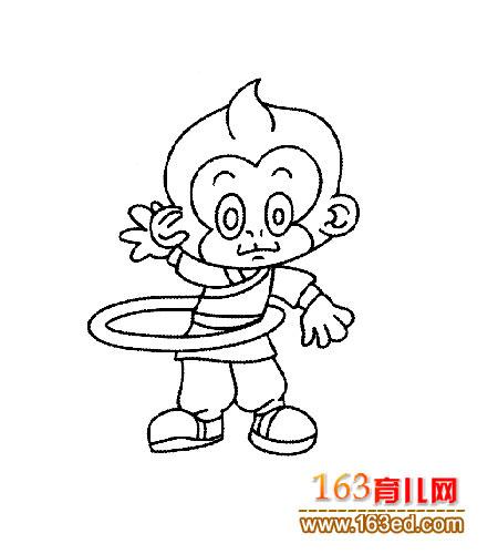 孙悟空黑白简笔画内容图片展示_孙悟空黑白简笔画