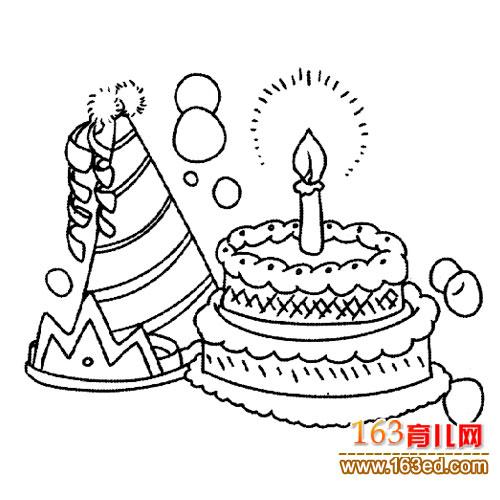 层生日蛋糕1 简笔画