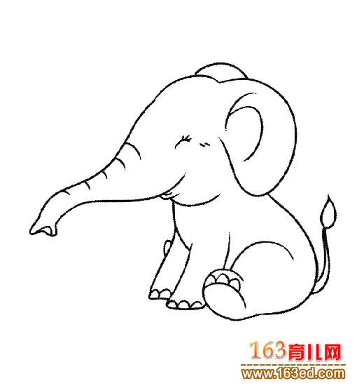 简笔画 长鼻子大象