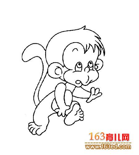 可爱的小猴子 儿童简笔画2