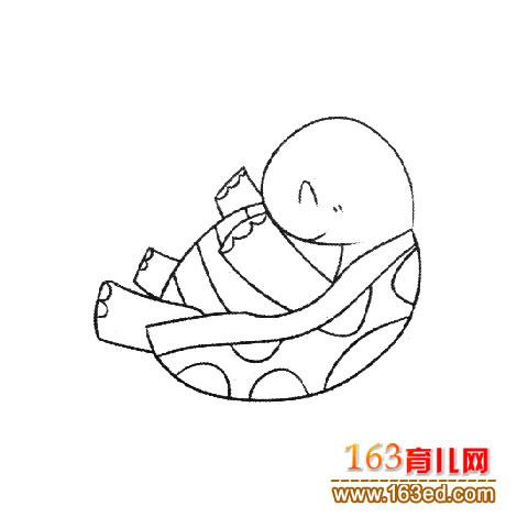 幼儿简笔画:顽皮的乌龟5