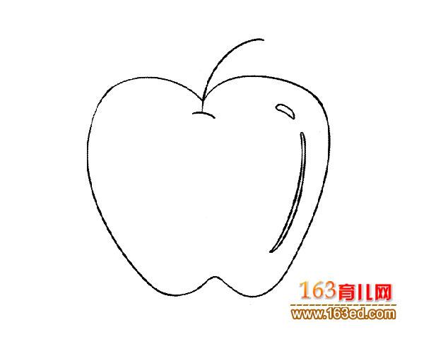 又大又圆的苹果 儿童简笔画3
