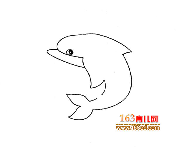 可爱的海豚_儿童简笔画