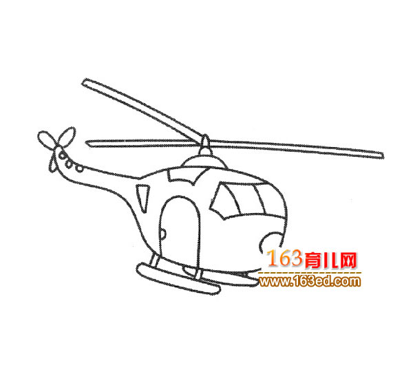 幼儿飞机简笔画 直升飞机2
