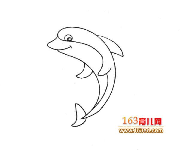 跳高的小海豚_儿童简笔画