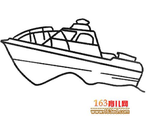 乘风破浪的轮船 幼儿交通工具简笔画