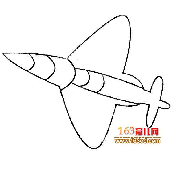 幼儿飞机简笔画:美国战斗机4