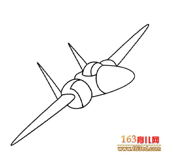 幼儿飞机简笔画:美国战斗机3