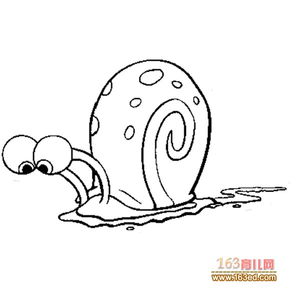 兒童簡筆畫:海綿寶寶的寵物—簡筆畫網