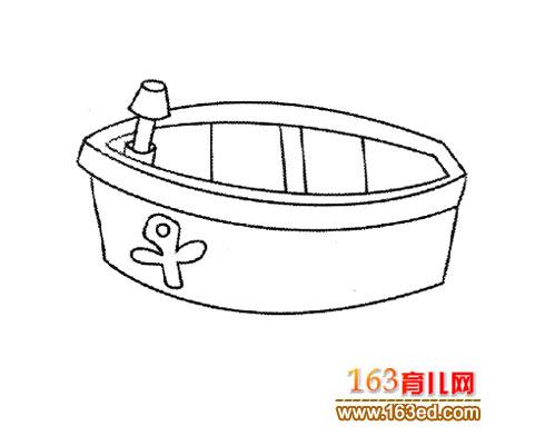 一叶小舟 幼儿交通工具简笔画1