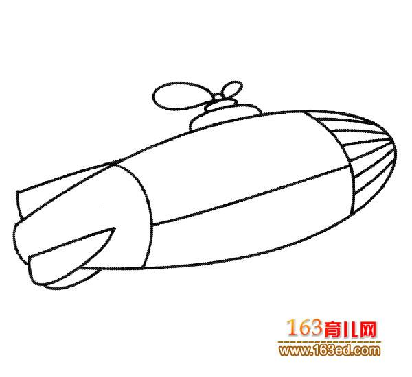 幼儿简笔画图片:神秘飞碟