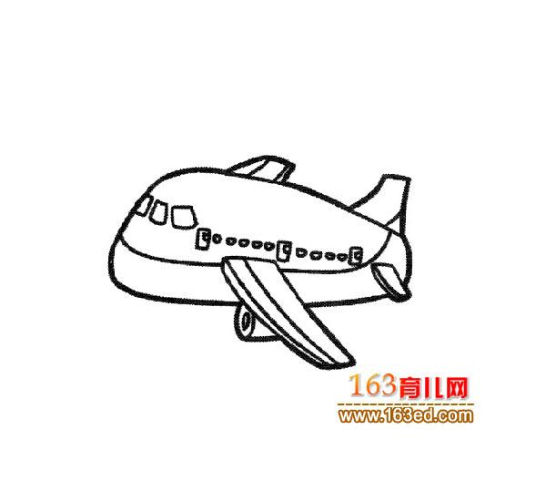 婴儿简客机幼儿:卡通笔画民航1毛线衣服编织教程图片图片