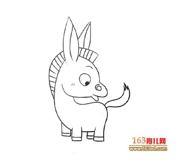 可爱的小毛驴 幼儿简笔画图片3