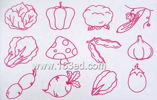 简笔画:蔬菜水果9简笔画网
