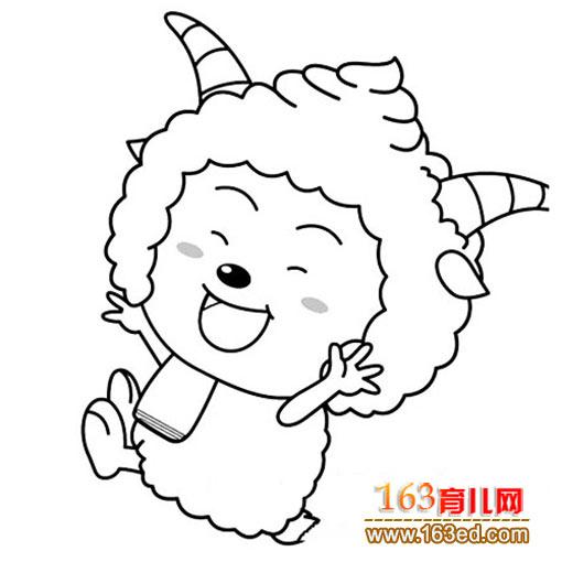 快乐的懒羊羊简笔画简笔画网