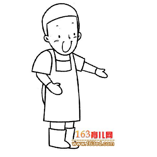 厨师 简笔画图片下载