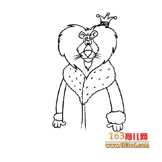 动物简笔画狮子图片下载