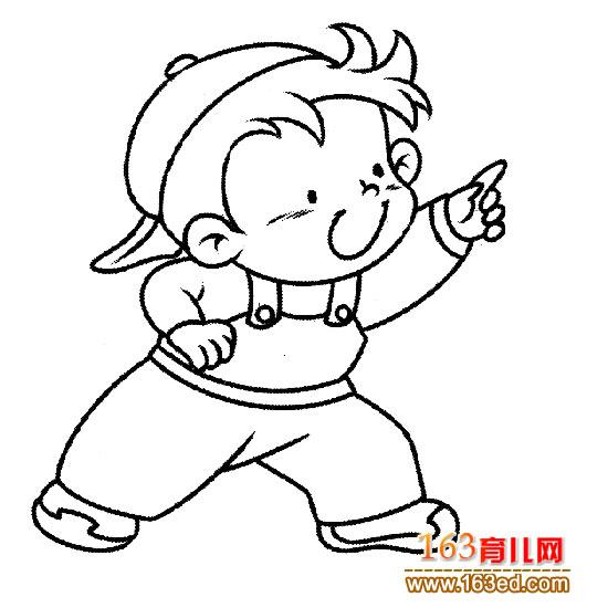 玩耍的小男孩简笔画4—简笔画网; 玩耍的小男孩(简笔画)5幼儿园简笔