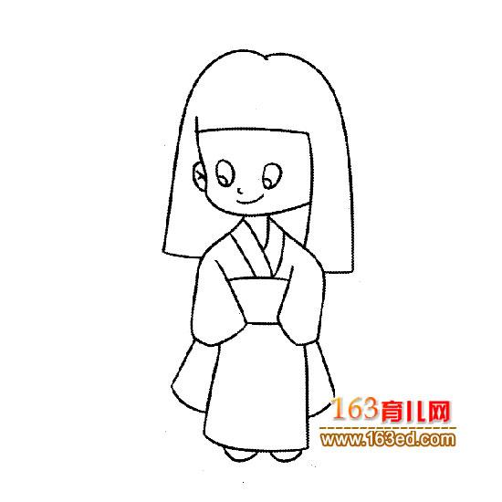 美女简笔画图片3p_心心简笔画网