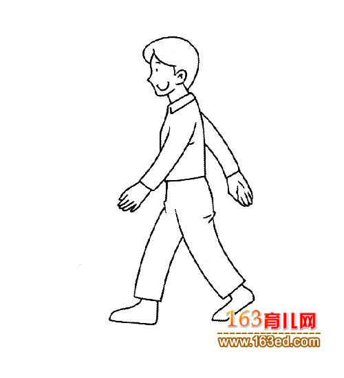 走路简笔画|走路简笔画,儿童人物简笔画大全