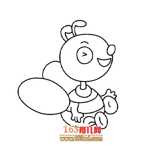 通蜜蜂图片简笔画
