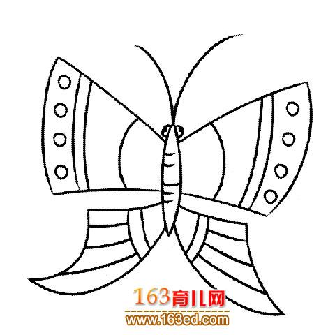 蝴蝶风筝 简笔画图片下载