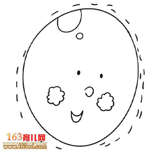 圆圆的月亮简笔画图片下载