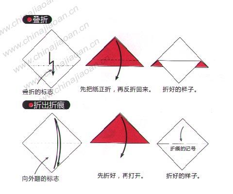 儿童手工制作:折纸的基本方法2