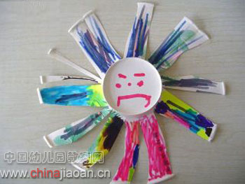 幼儿手工废旧利用:花朵—儿童手工制作网