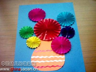 幼儿手工制作(纸艺):花瓶—儿童手工制作网