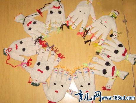 幼儿手工制作布艺:手套娃娃