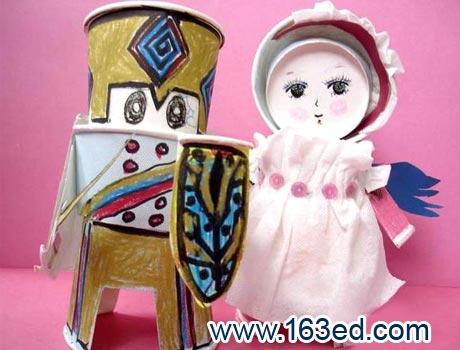 幼儿纸杯手工制作:纸杯娃娃24