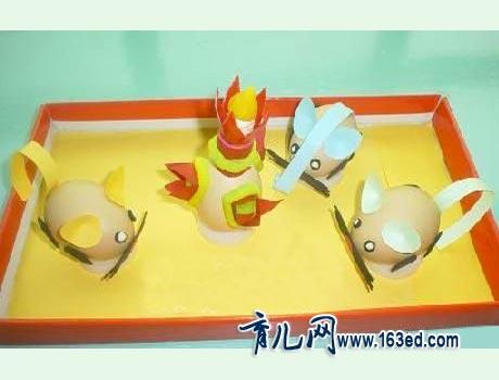 幼儿蛋壳手工制作:蛋壳作品2