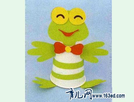 幼儿纸杯手工制作:纸杯青蛙—儿童手工制作网