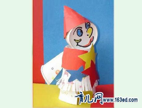 幼儿纸杯手工制作:纸杯娃娃30