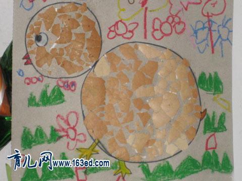 幼儿手工制作 蛋壳贴画4