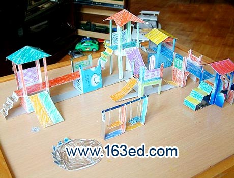幼儿园吸管贴画_幼儿手工制作:纸盒开心乐园1—儿童手工制作网