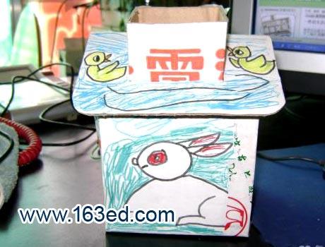 幼儿手工制作:纸盒小房子4