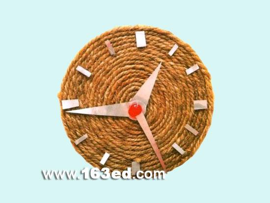 幼儿手工制作:草绳钟