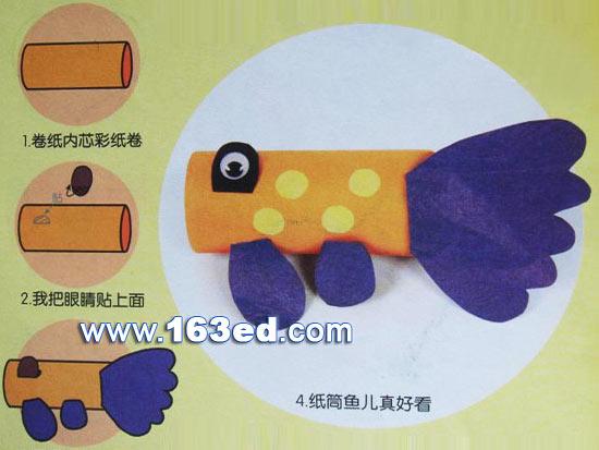 幼儿手工制作金鱼图片下载