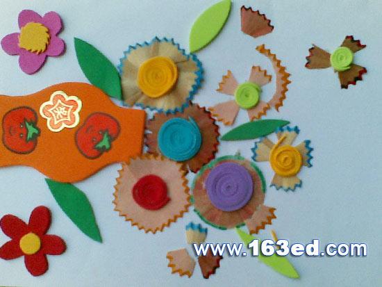 幼儿手工制作:橡皮泥花
