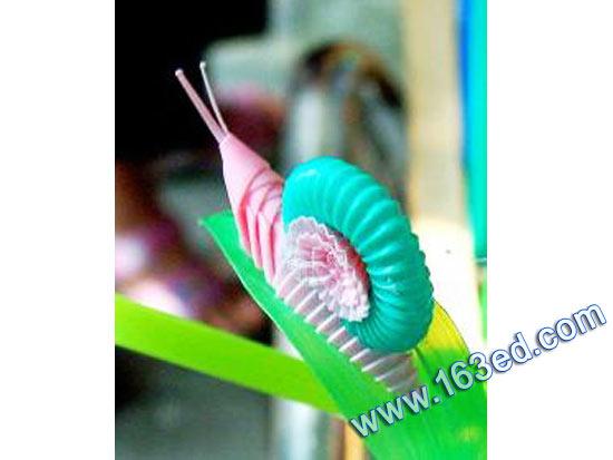 幼儿吸管手工制作:小蜗牛