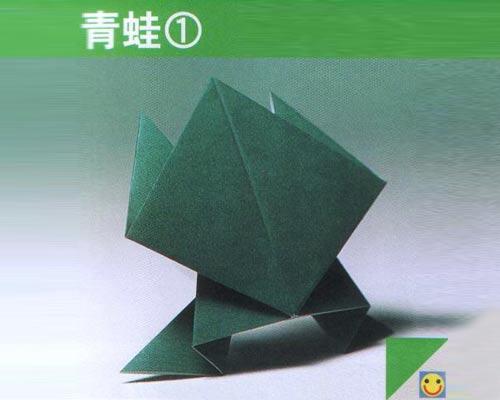 幼儿手工折纸画:荷塘青蛙_幼儿园手工大全