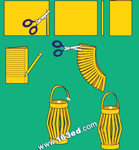 幼儿手工制作:简易灯笼—儿童手工制作网