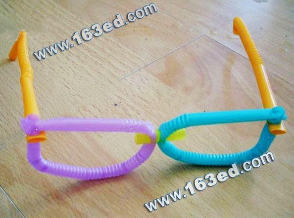 眼镜图纸v眼镜:手工吸管19.5口m幼儿金厘米型图片