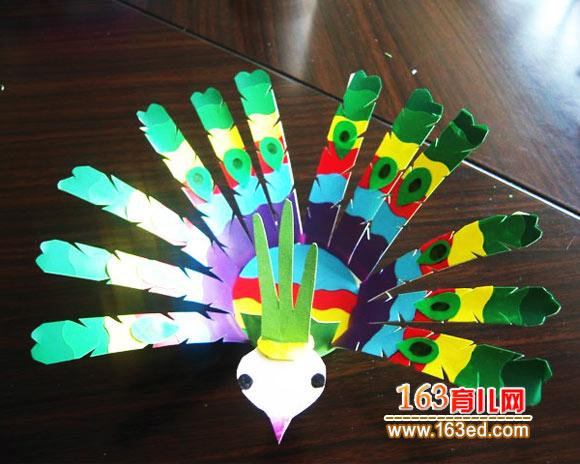 手工项链设计:漂亮的图纸纸杯孔雀子弹头的制作图片