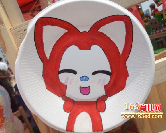 纸盘可爱动物画图片