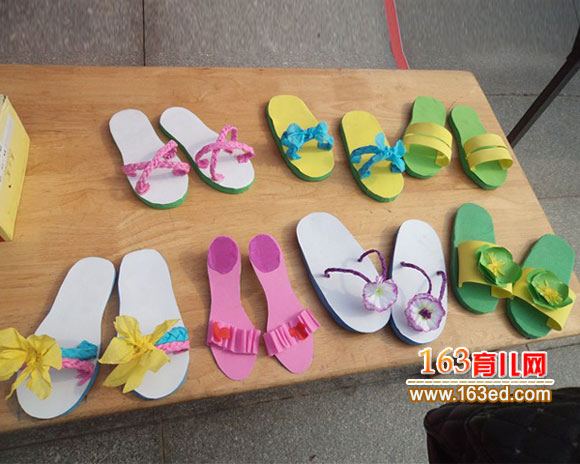幼儿手工作品 拖鞋